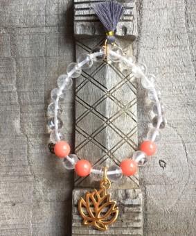 """Mala-Armband """"Lotus Crystal"""" 17 cm"""