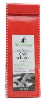 Bio Chili-Schoten (ganz), 30 g