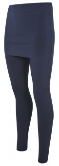 Yogi leggings with fold-over waistband, navy - Yogistar by Asquith