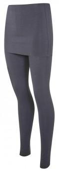 Yogi leggings with fold-over waistband, slate - Yogistar by Asquith