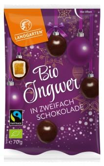 Bio Ingwer in zweifach Schokolade, 70 g