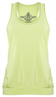 "Sport Tank-Top ""Iris"", lemon S"