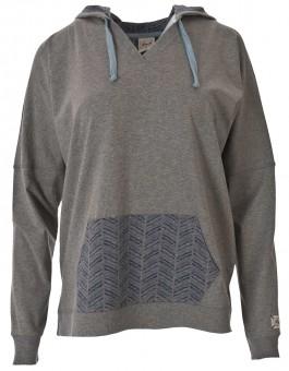 Kapuzenshirt soft, grey S