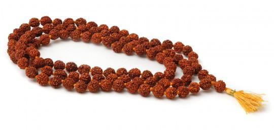 Mala-Kette aus Rudraksha mit 108 Perlen