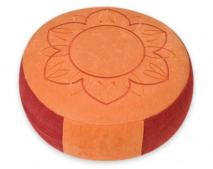 Kinderyoga Meditationskissen rot/apricot