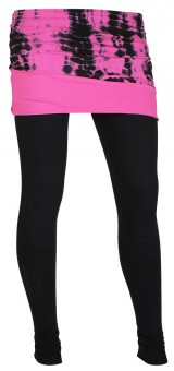 Layering-Skirt Pants, black-antrazith-pink