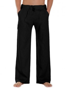 Leinenhose Essential - black