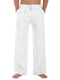 Leinenhose Essential - white