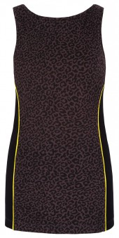Boatneck-Top mit Bra - leopard L