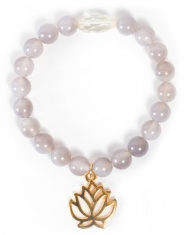 "Mala-Armband ""Golden Lotus"""