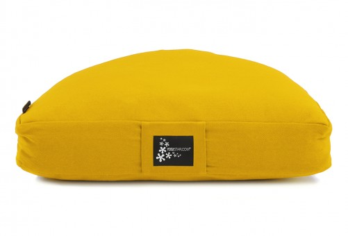 Meditationskissen - Halbmond gelb