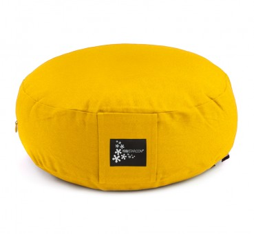 Meditation cushion - round yellow