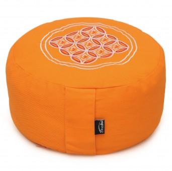Meditationskissen rund - vintage - cotton - ø 30cm x 15cm mango