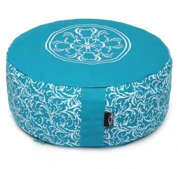 Meditationskissen rund - vintage - cotton - ø 36cm x 15cm turquoise