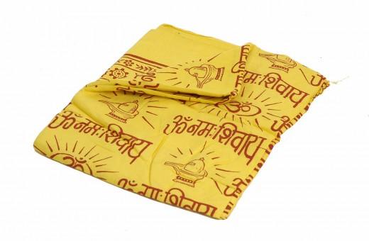 Meditationsschal - Mantra - gelb