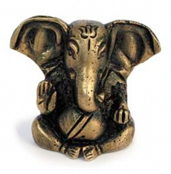 Mini Ganesha - Messingstatue 4,5 cm