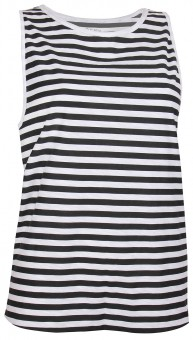 Yoga Muscle-Tank striped - black/white