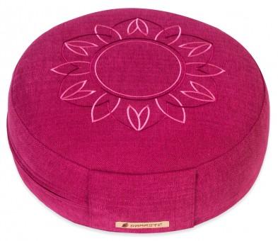 Meditationskissen Darshan Neo - Flower - Rund magenta