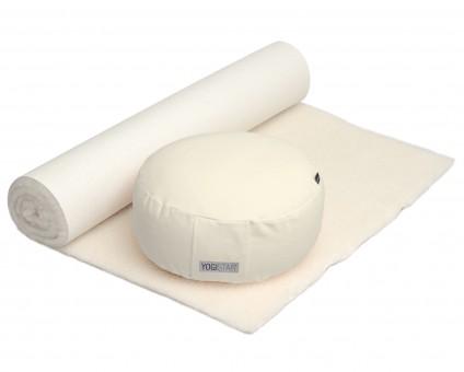 Yoga-Set Comfort Edition - Meditation natur 100 x 200 cm
