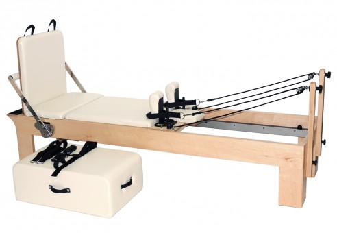 "Pilates Reformer Ahorn ""Therapeutic Leg"" (inkl. Sitting Box und Jump Board) - creme"