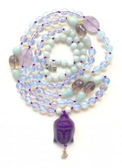 """Mala-Kette """"Purple Buddha"""""""