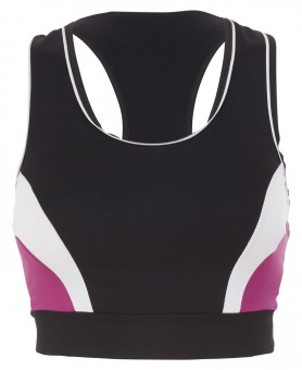 "Active Soft-Bra ""Ruby"" - black/fuchsia/white"