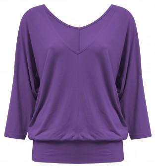 "Yoga-Shirt ""Sarasvati"" - purple"