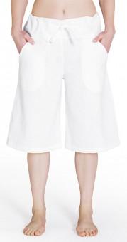 Bermuda-Leinenhose - weiß