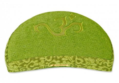 Meditationskissen Shakti - OM - Halbmond grün