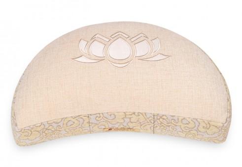 Meditation cushion 'Shakti' half moon, lotus