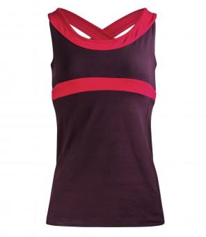 "Yoga-Racerback-Top ""Shape me"" - aubergine"