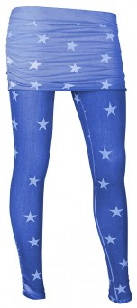 "Skirt-Pant ""Stars"", flashblue"