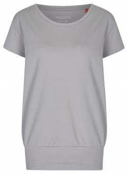 "Yoga-T-Shirt ""Smooth you"" - pearl grey"
