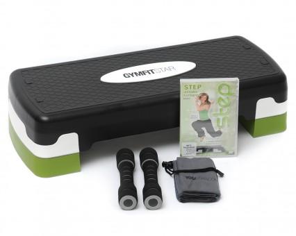 Step-Fitness-Set (Stepboard + Soft-Hanteln + Mini-Handtuch + DVD)