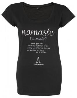 "T-Shirt ""Namaste Love"", schwarz"