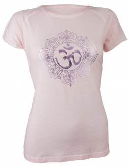 "Yoga-T-Shirt ""pigment dyed OM"" - powder"