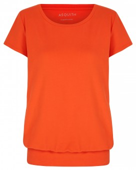 "T-Shirt ""Smooth you"" - disco orange L"