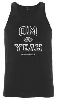 """Tank-Top """"OM YEAH"""" - black M"""