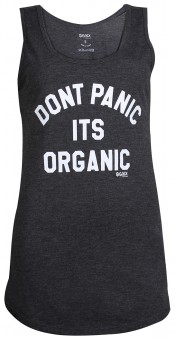 "Yoga Tank-Top ""Don't panic it's organic"" - black XL"