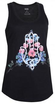 "Yoga Tank-Top ""Hamsa Flower"" - black"