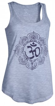 "Yoga Tank-Top ""Pigment dyed OM"" - hellblau"