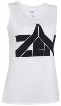 "Yoga Tank-Top ""Zen"" - white"