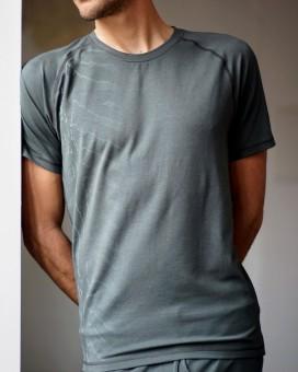 """Yoga-T-Shirt """"Arjun"""", dark olive L"""