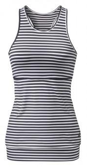 Top mit Kellerfalte - stripes blue/white