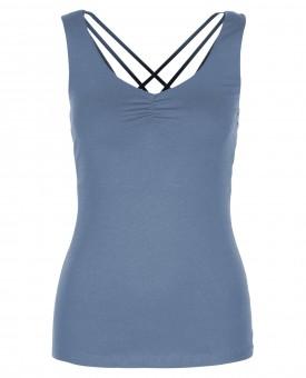 "Yoga-Top ""Nouri"" - bluegrey S"