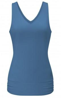 Tank-Top V-Neck - horizon blue