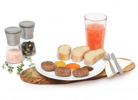 18x Vegan Bio Frikadellen inkl. 3 Saucen - Rezept & Zutaten Set