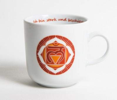 Chakra-Tasse aus Porzellan Wurzel-Chakra