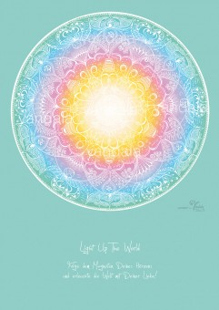 "Yandala-Poster ""Light up the world"""