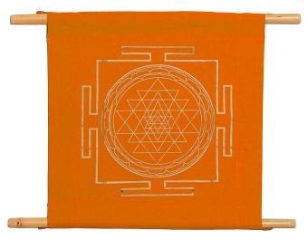 Wandbanner Shri Yantra - orange